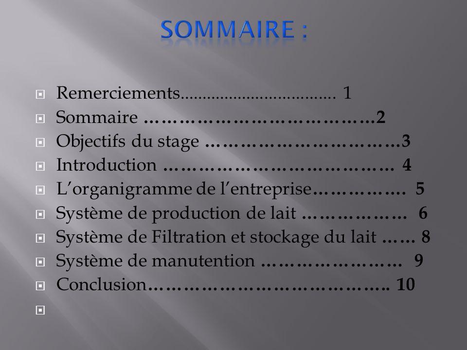 Sommaire : Remerciements................................... 1