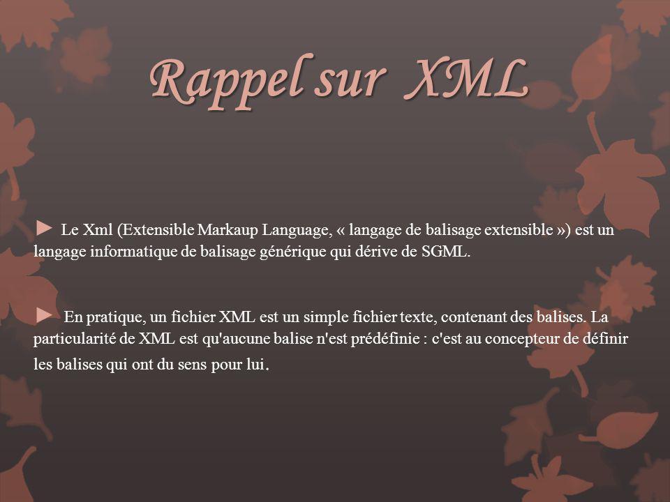 Rappel sur XML