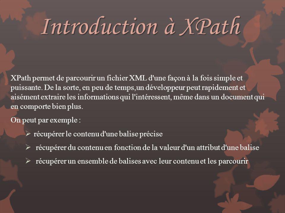 Introduction à XPath