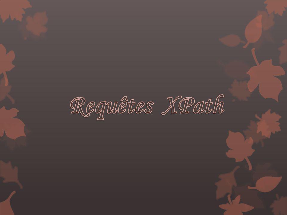 Requêtes XPath
