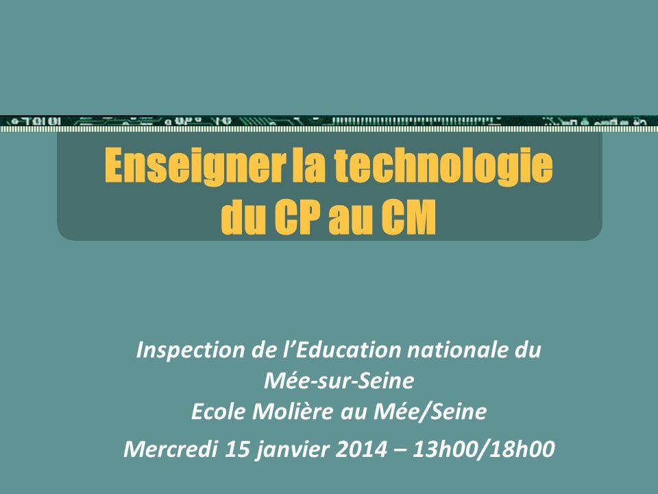 Enseigner la technologie du CP au CM