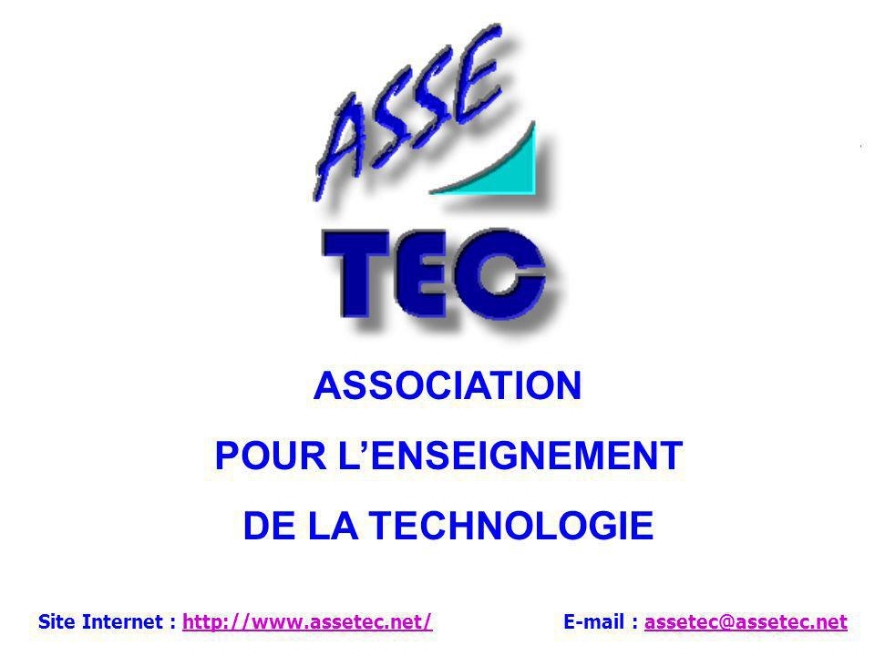 ASSOCIATION POUR L'ENSEIGNEMENT DE LA TECHNOLOGIE