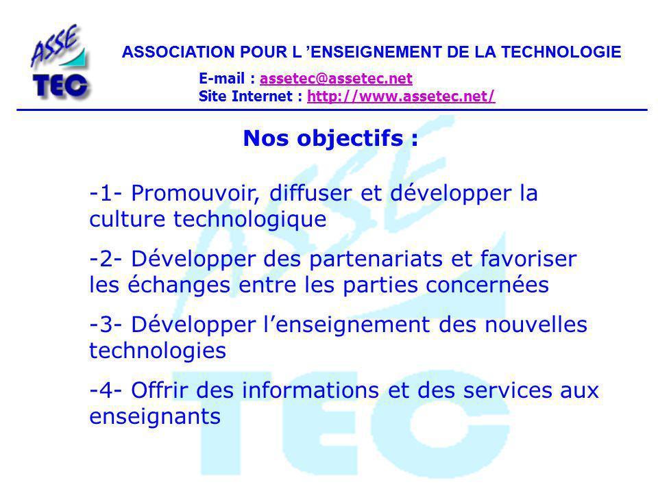 -1- Promouvoir, diffuser et développer la culture technologique
