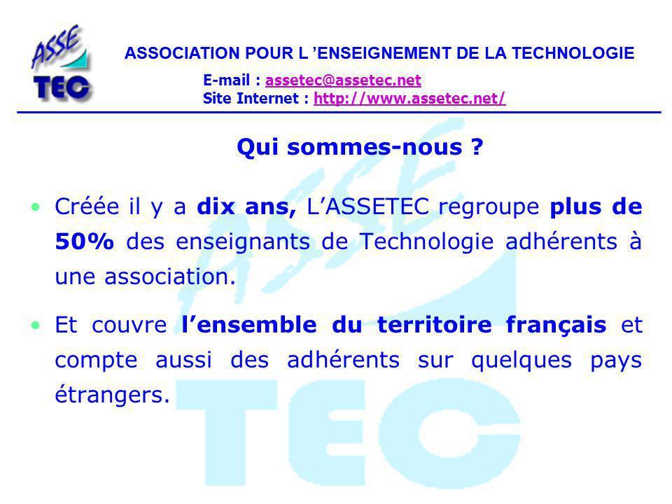ASSOCIATION POUR L 'ENSEIGNEMENT DE LA TECHNOLOGIE