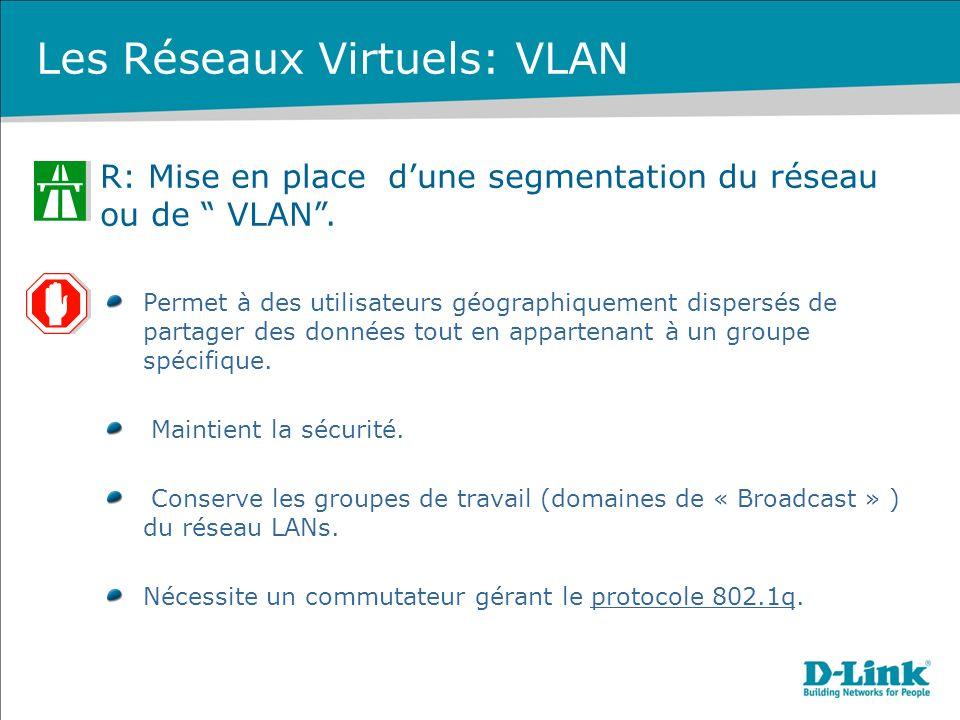 Les Réseaux Virtuels: VLAN