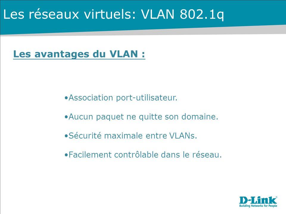 Les réseaux virtuels: VLAN 802.1q