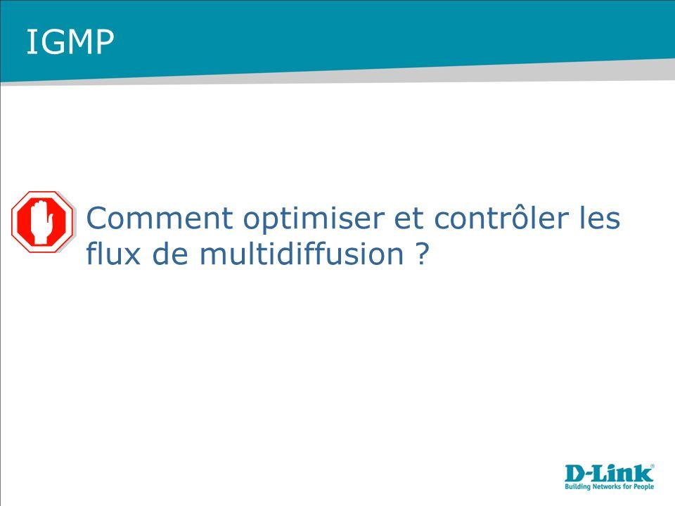 IGMP Comment optimiser et contrôler les flux de multidiffusion