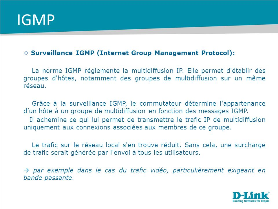 IGMP Surveillance IGMP (Internet Group Management Protocol):