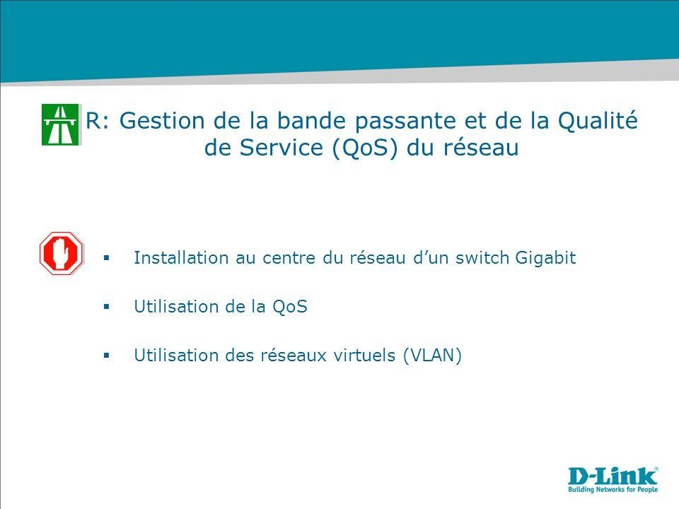 R: Gestion de la bande passante et de la Qualité de Service (QoS) du réseau