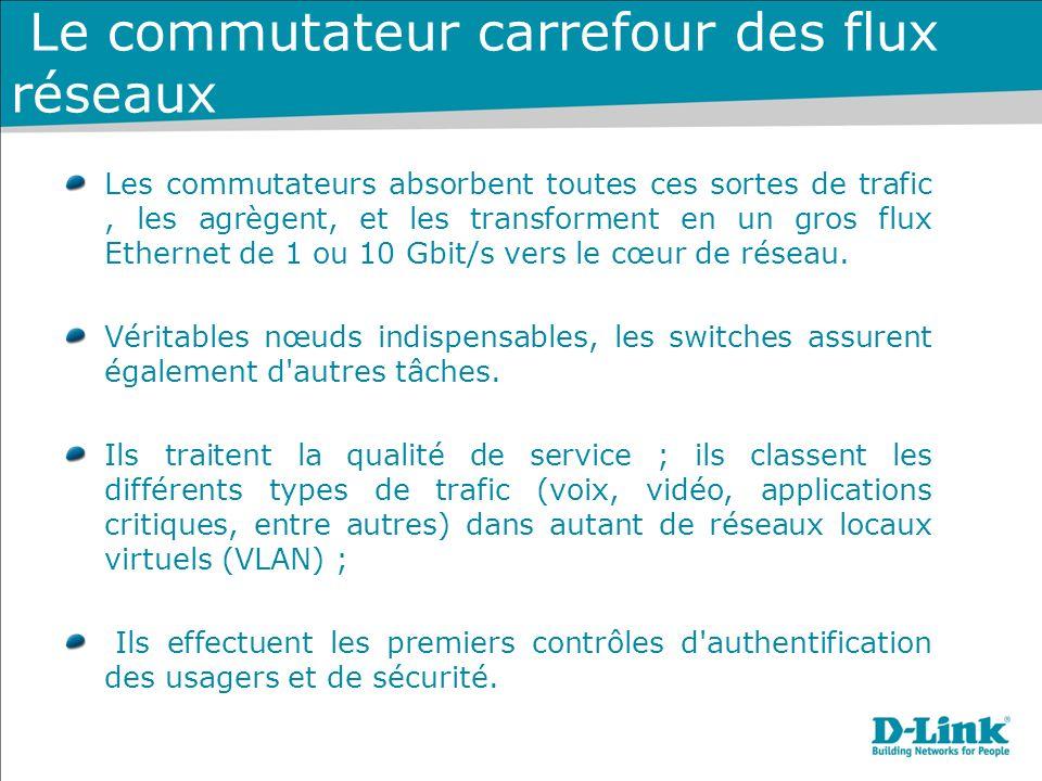 Le commutateur carrefour des flux réseaux