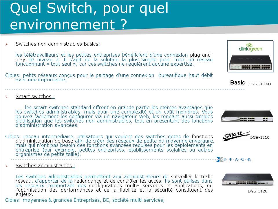 Quel Switch, pour quel environnement