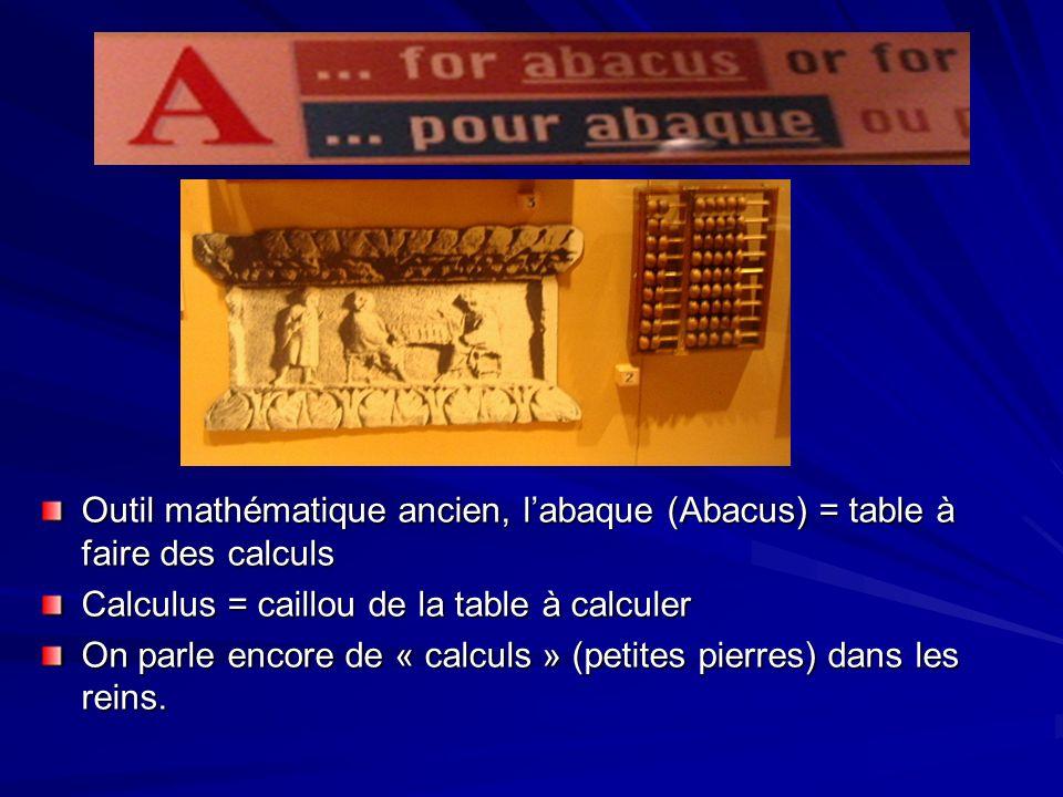 Outil mathématique ancien, l'abaque (Abacus) = table à faire des calculs