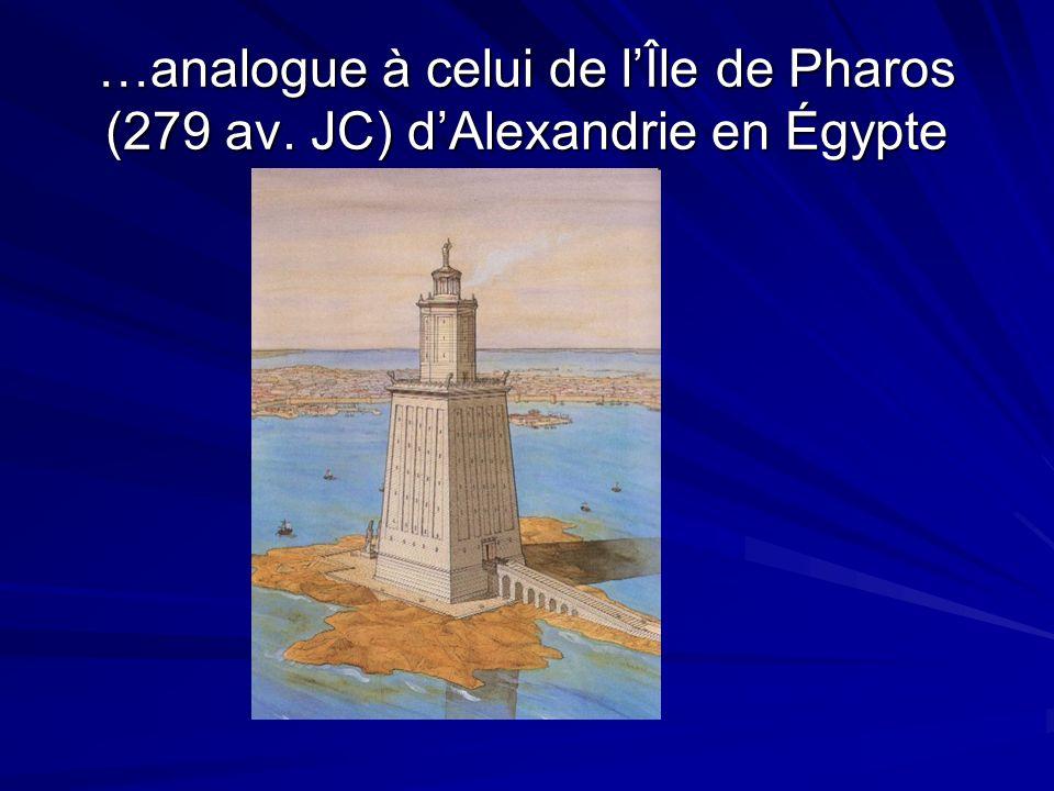 …analogue à celui de l'Île de Pharos (279 av