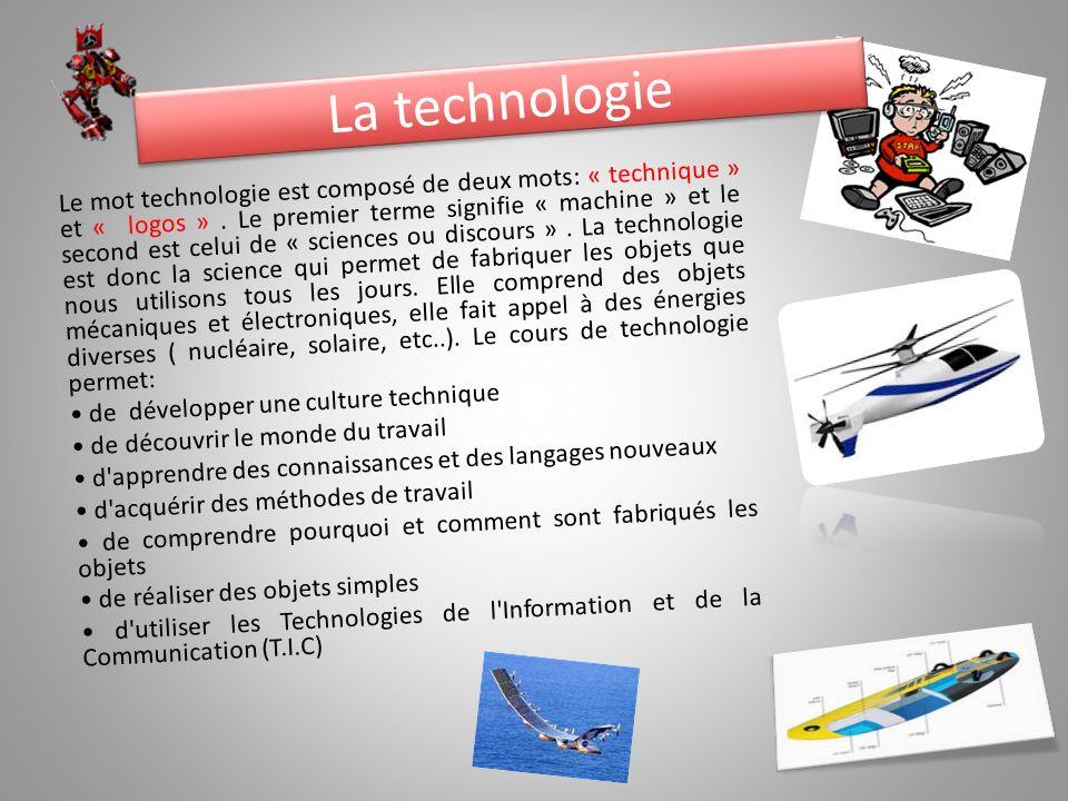 la technologie le mot technologie est compos233 de deux mots