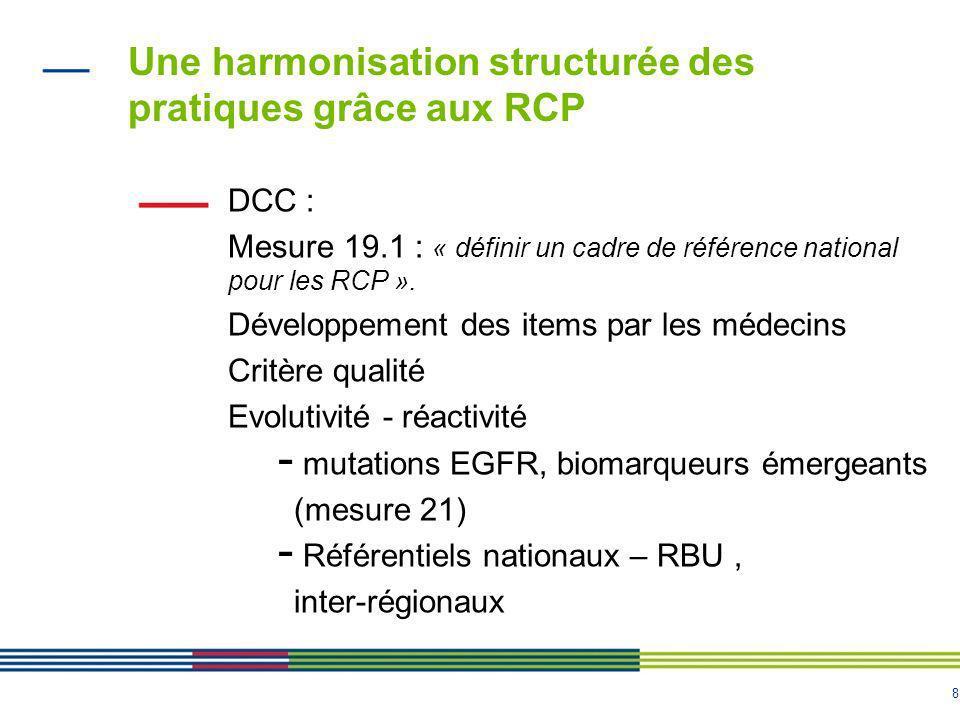 Une harmonisation structurée des pratiques grâce aux RCP