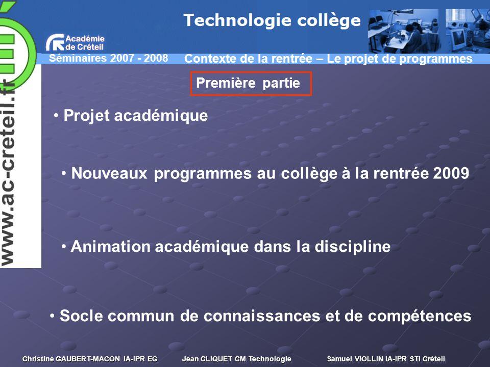 Nouveaux programmes au collège à la rentrée 2009