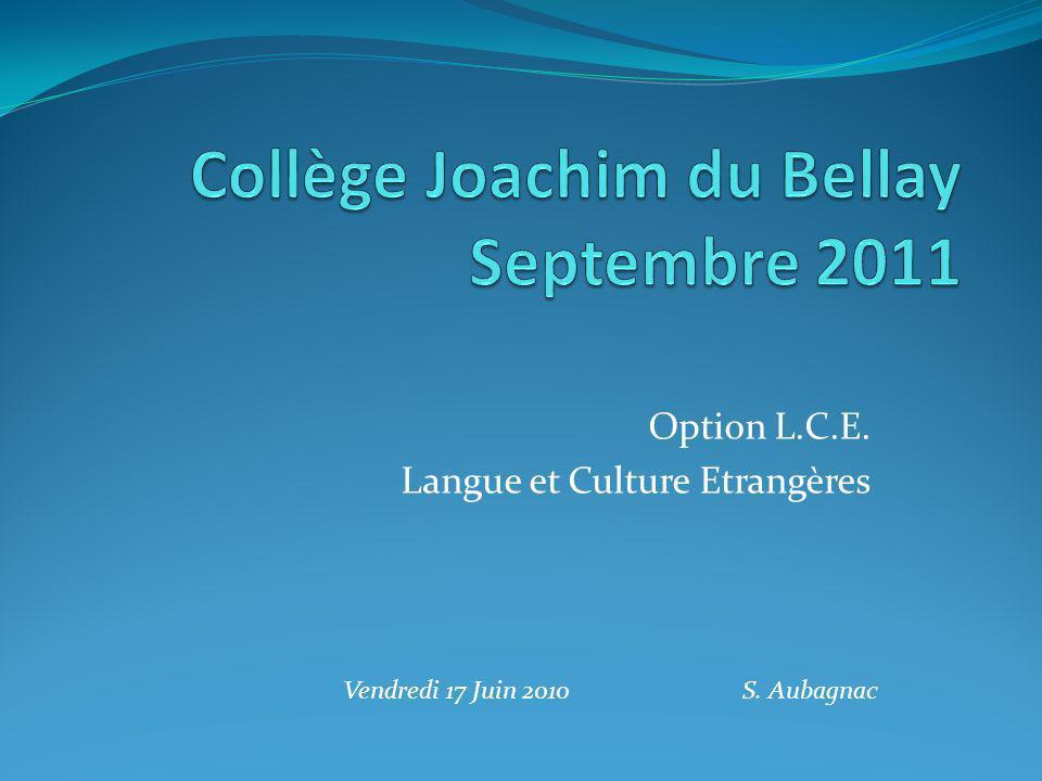 Collège Joachim du Bellay Septembre 2011