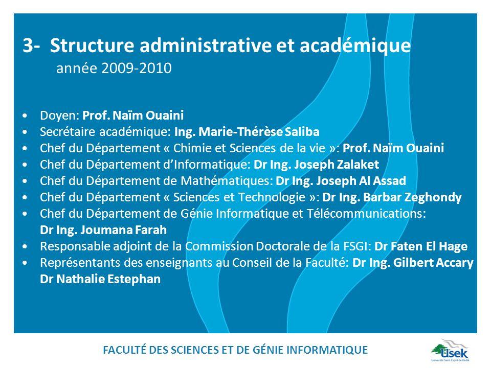 3- Structure administrative et académique année 2009-2010