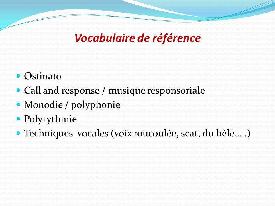 Vocabulaire de référence