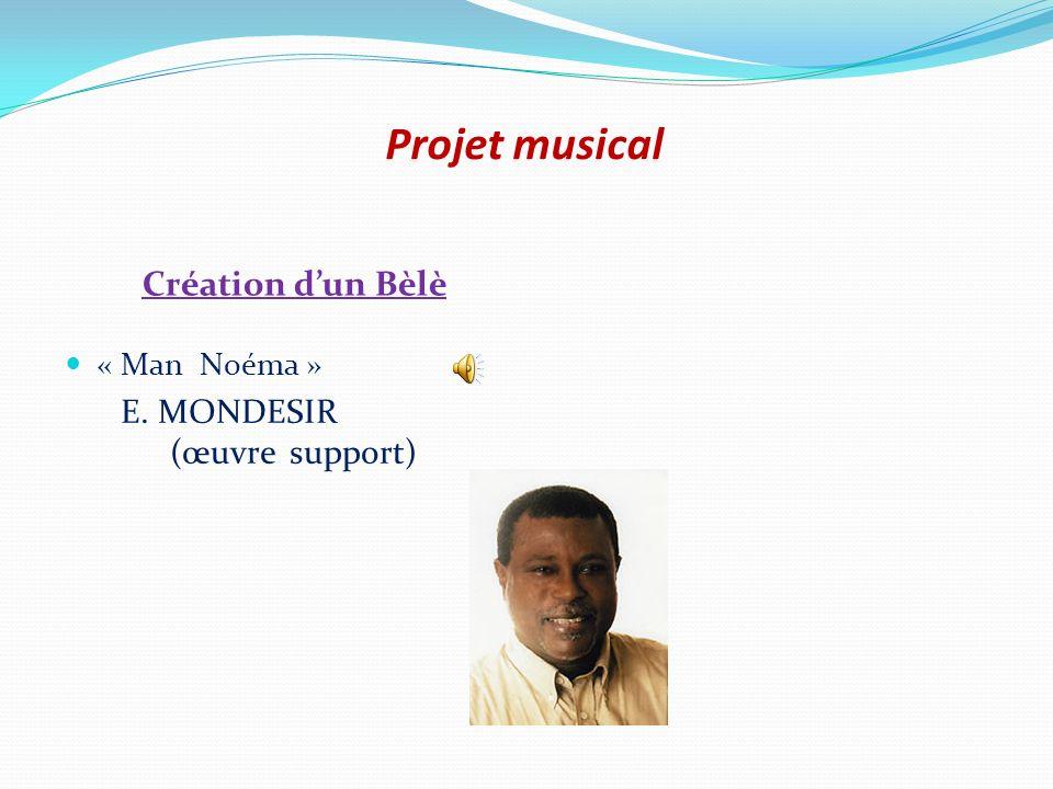Projet musical Création d'un Bèlè « Man Noéma »