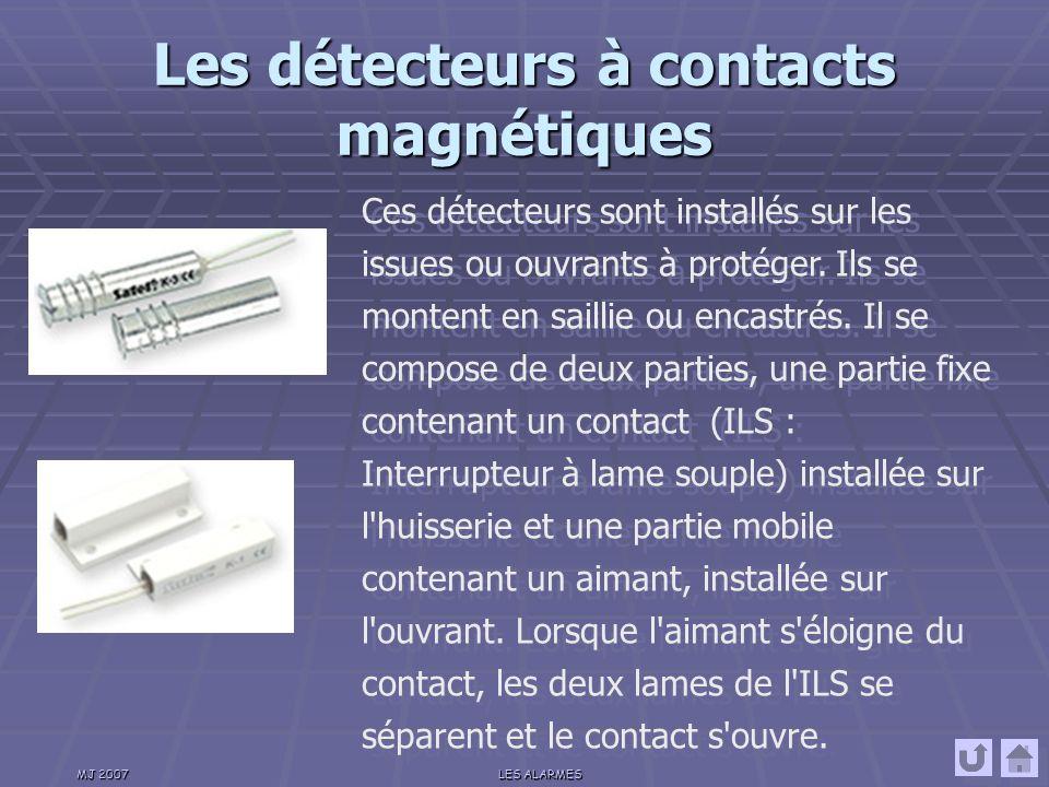 Les détecteurs à contacts magnétiques