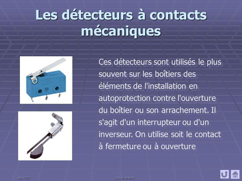 Les détecteurs à contacts mécaniques