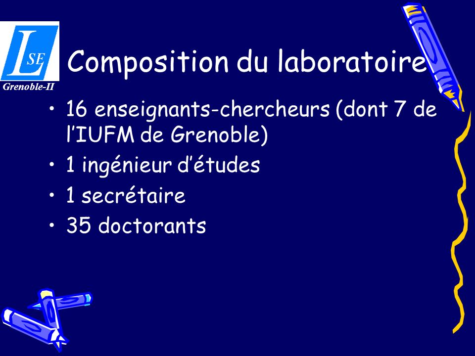 Composition du laboratoire