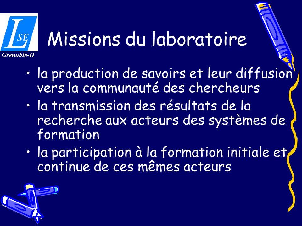 Missions du laboratoire