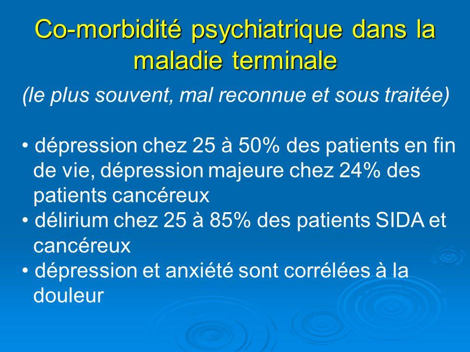 Co-morbidité psychiatrique dans la maladie terminale