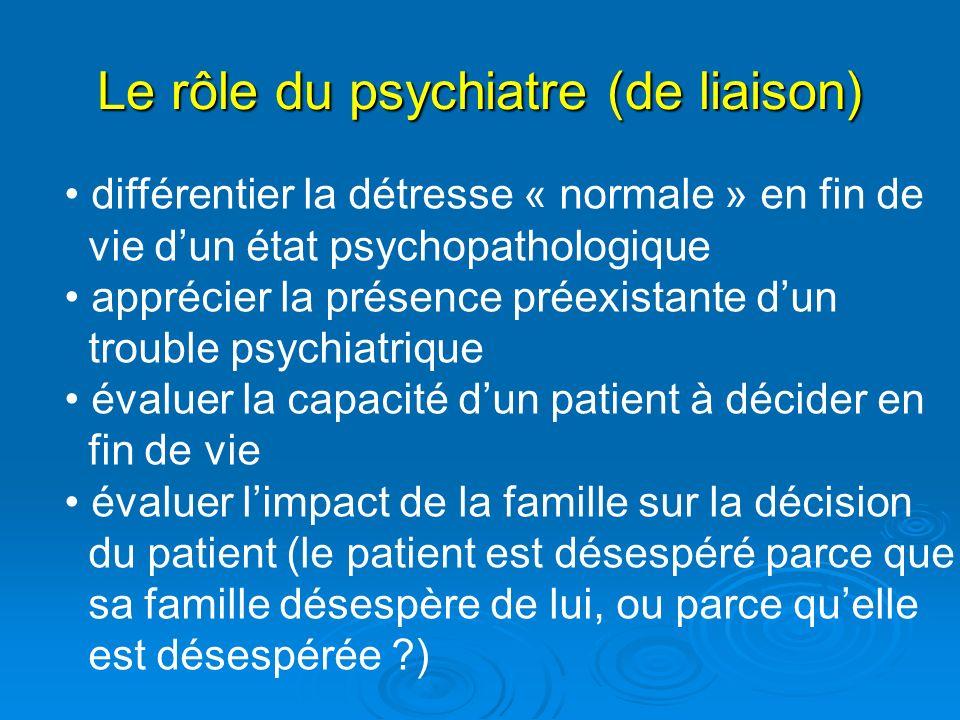 Le rôle du psychiatre (de liaison)