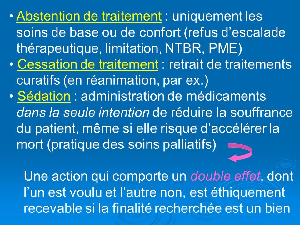Abstention de traitement : uniquement les