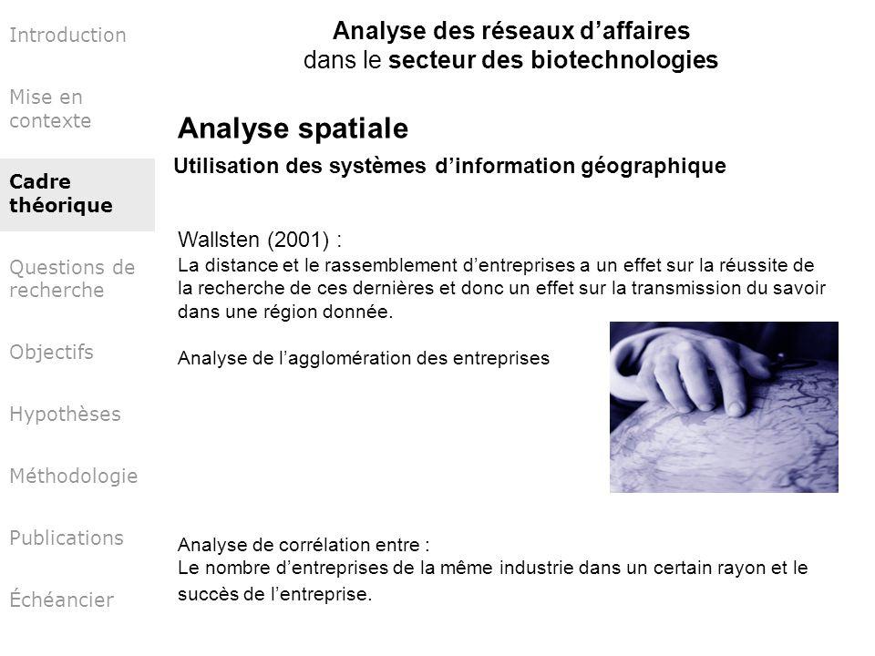 Analyse spatiale Analyse des réseaux d'affaires