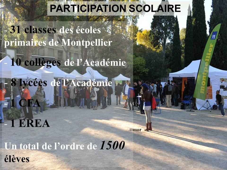 8 lycées de l'Académie PARTICIPATION SCOLAIRE