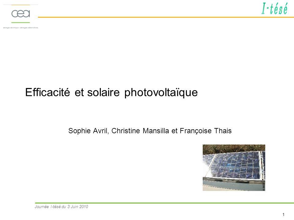 Efficacité et solaire photovoltaïque