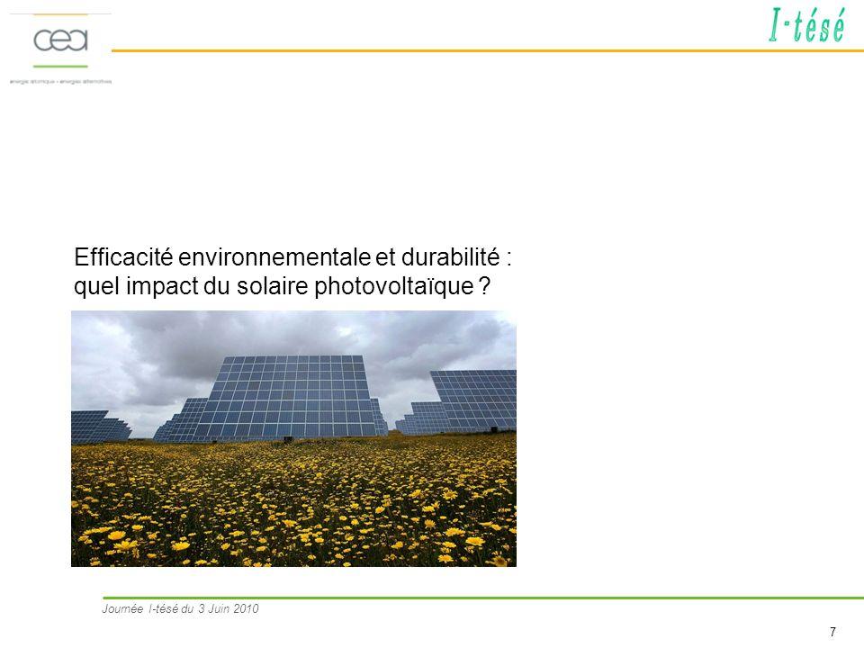 Efficacité environnementale et durabilité : quel impact du solaire photovoltaïque
