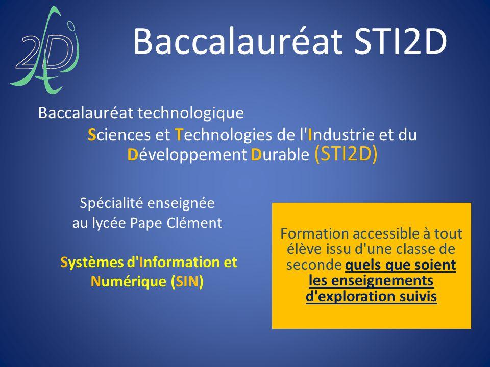 Baccalauréat STI2D Baccalauréat technologique