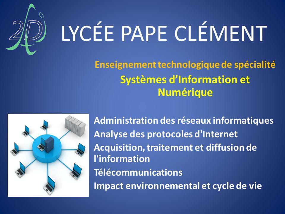 LYCÉE PAPE CLÉMENT Systèmes d'Information et Numérique