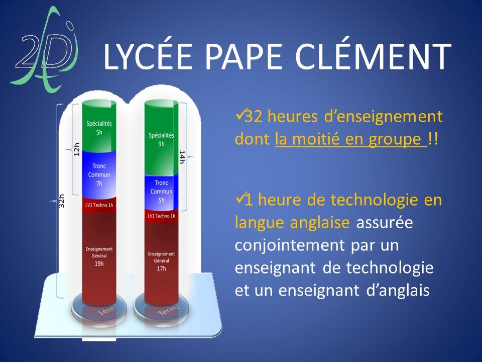 LYCÉE PAPE CLÉMENT 32 heures d'enseignement dont la moitié en groupe !!