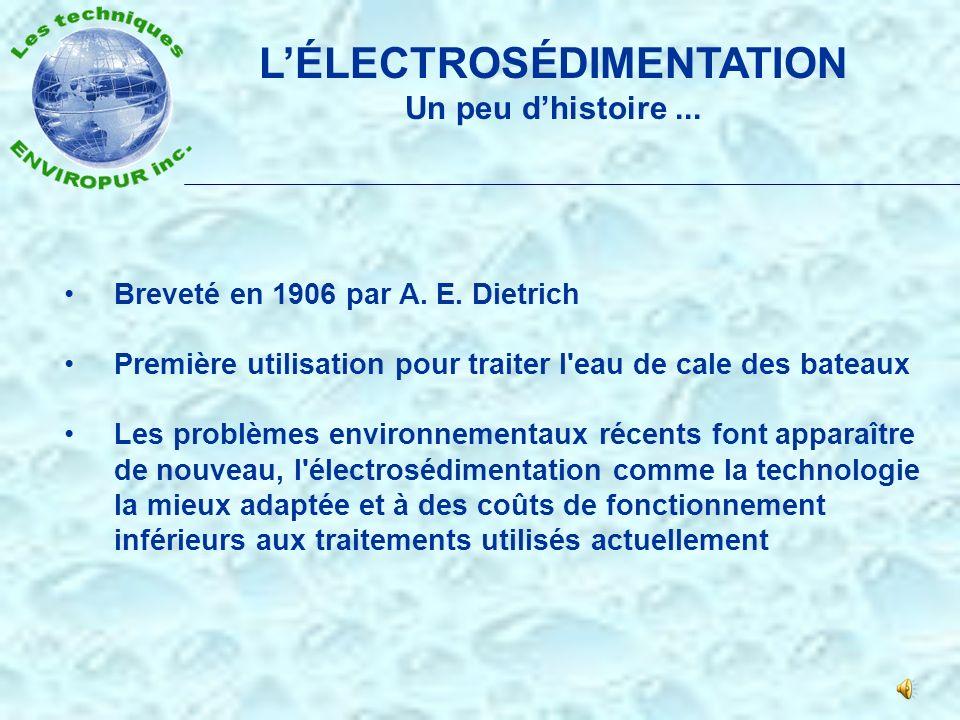 L'ÉLECTROSÉDIMENTATION