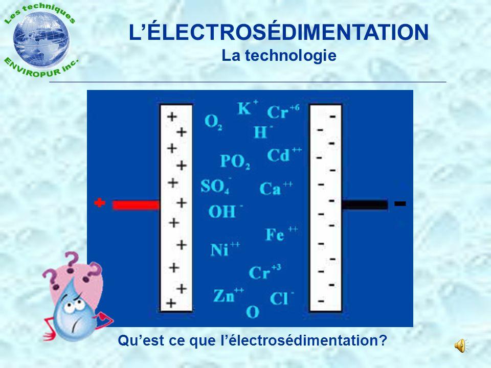 L'ÉLECTROSÉDIMENTATION Qu'est ce que l'électrosédimentation