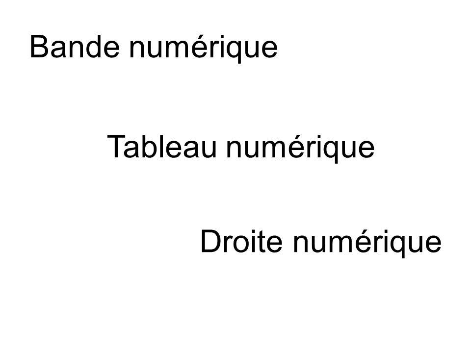 Bande numérique Tableau numérique Droite numérique