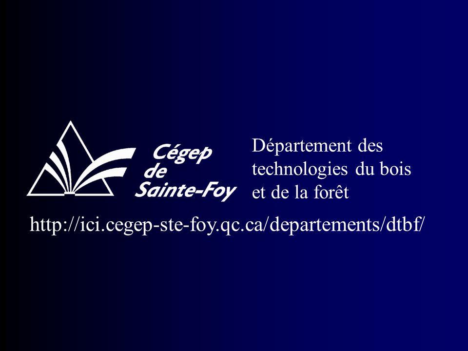 Département des technologies du bois et de la forêt