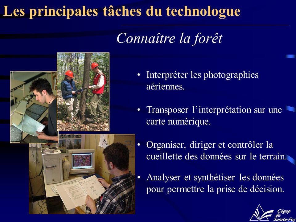 Les principales tâches du technologue