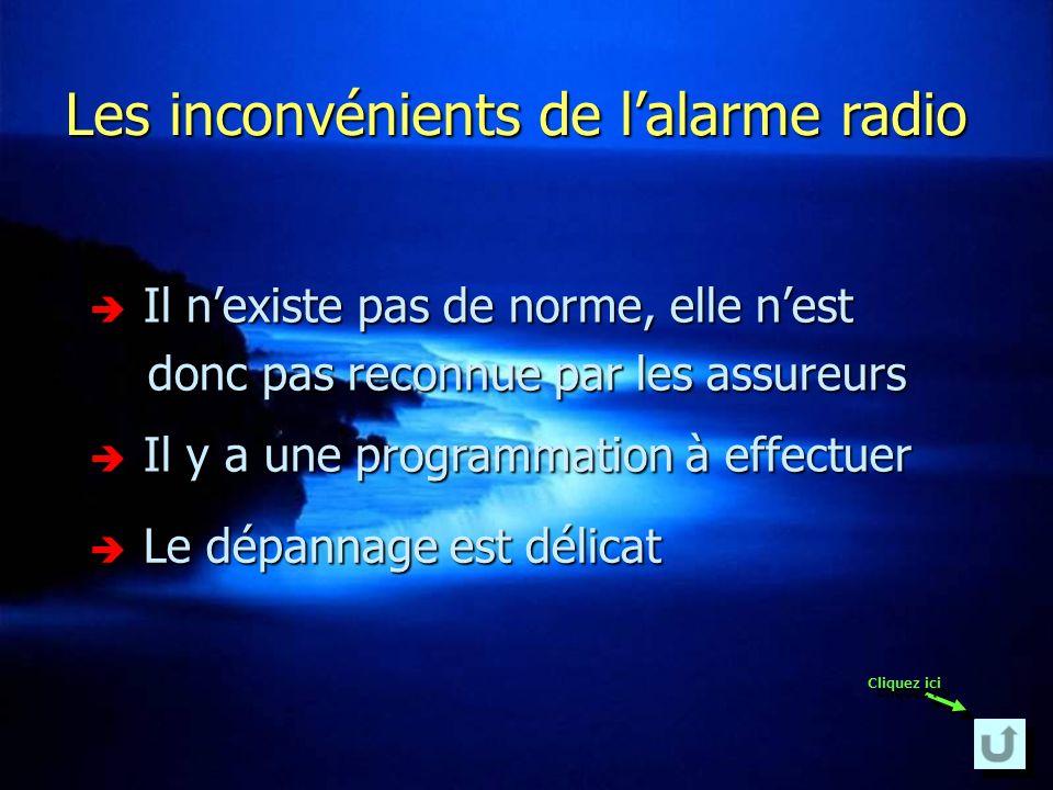 Les inconvénients de l'alarme radio