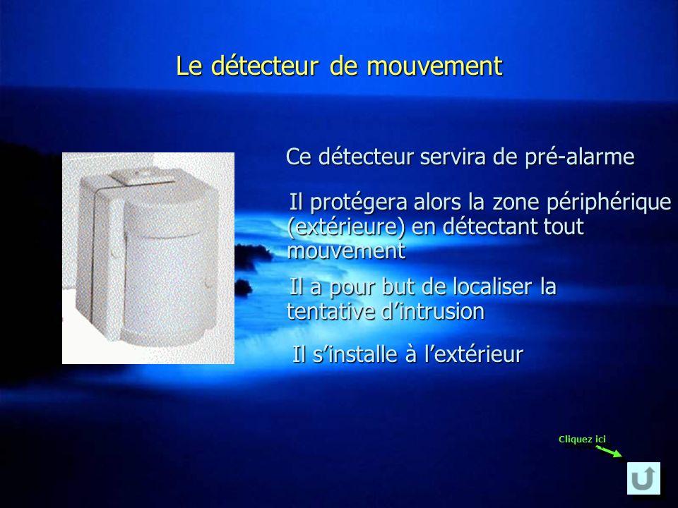 Le détecteur de mouvement