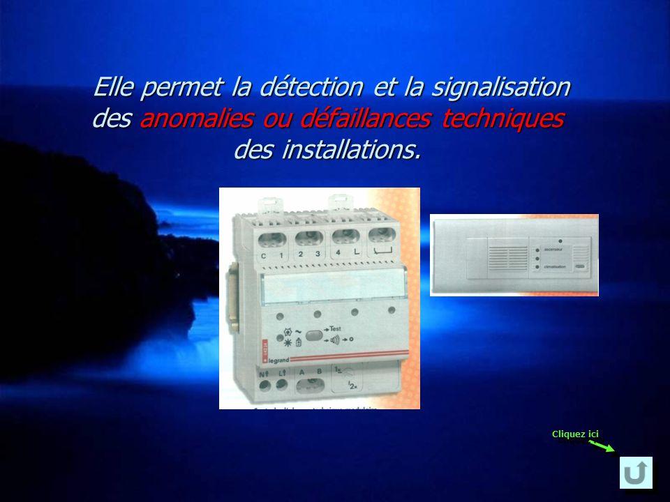 Elle permet la détection et la signalisation des anomalies ou défaillances techniques des installations.