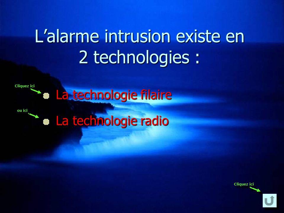 L'alarme intrusion existe en 2 technologies :