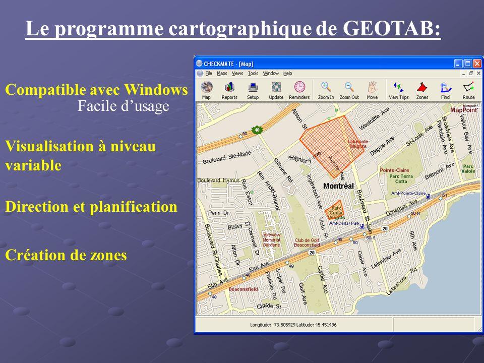 Le programme cartographique de GEOTAB: