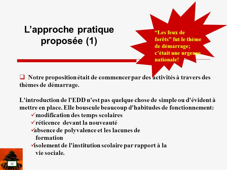 L'approche pratique proposée (1)