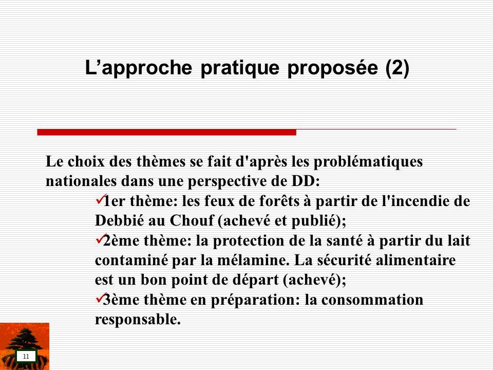 L'approche pratique proposée (2)